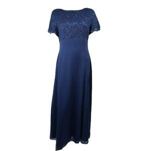 LANZ OF SALZBURG Blue Formal Dress Size 12